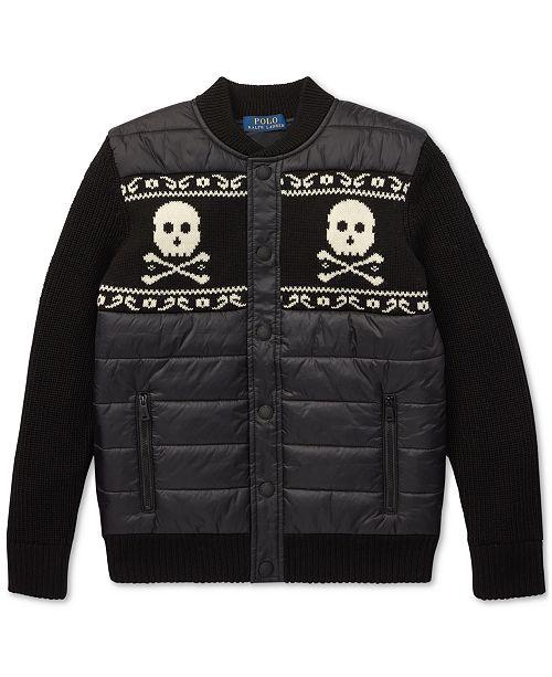 6bbb0020249 Polo Ralph Lauren Big Boys Merino Wool Hybrid Jacket   Reviews ...