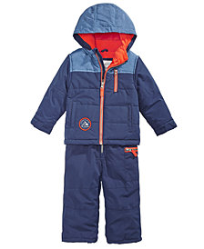 Carter's Baby Boys Hooded Colorblocked Snowsuit