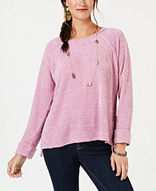 Style & Co Chenille Knit Top, Created for Macy's