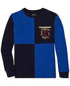 Polo Ralph Lauren Big Boys Colorblocked Long-Sleeve Cotton T-Shirt