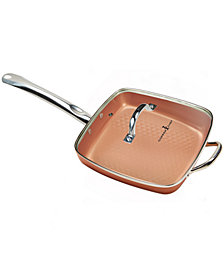 "Copper Chef 12"" King Pan with Lid"