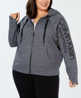Calvin Klein Performance Plus Size Relaxed Fleece Zip Hoodie
