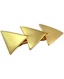 GUESS Gold-Tone Triangle Barrette