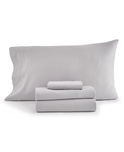 Goodful CLOSEOUT! Solid 4-Pc Queen Sheet Set, 300 Thread Count Hygro Cotton, Created for Macy's