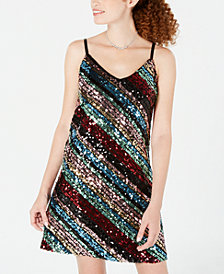As U Wish Juniors' Sequined A-Line Dress