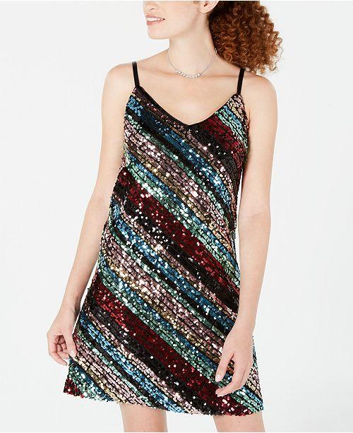 cbae5d0ec44a6 As U Wish Juniors' Sequined A-Line Dress & Reviews - Dresses - Women ...