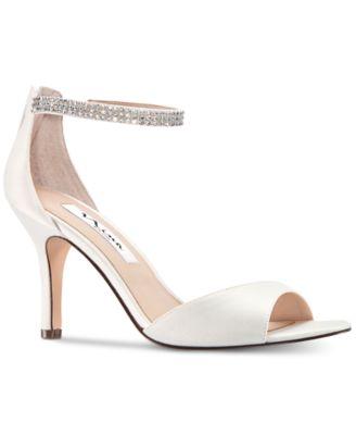 Nina White High Heels - Macy's