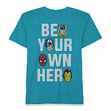 Marvel Little Boys Hero Heads Graphic T-Shirt