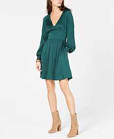 MICHAEL Michael Kors V-Neck Fit & Flare Dress, In Regular & Petite Sizes