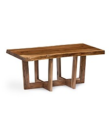 Alaterre Furniture Berkshire Natural Live Edge 42in. Wood Coffee Table