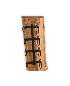 Alaterre Furniture Alpine Natural Live Edge Wine Rack with Metal