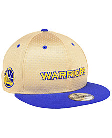 New Era Golden State Warriors Champagne 9FIFTY Snapback Cap