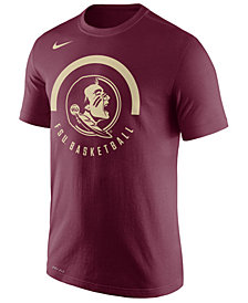 Nike Men's Florida State Seminoles Cotton Basketball Verbiage T-Shirt