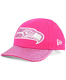 New Era Girls' Seattle Seahawks Shimmer Shine Adjustable Cap