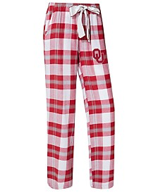 Concepts Sport Women's Oklahoma Sooners Homestretch Flannel Pajama Pants