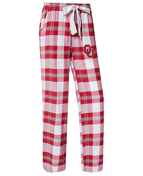 Concepts Sport Women s Oklahoma Sooners Homestretch Flannel Pajama Pants 32d8987fa