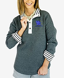 Women's Kentucky Wildcats Snap Quilted Pullover