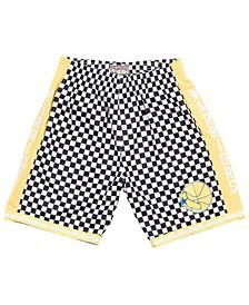 Men's Golden State Warriors Checkerboard Swingman Shorts