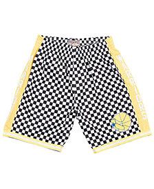 Mitchell & Ness Men's Golden State Warriors Checkerboard Swingman Shorts