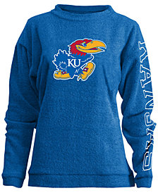 Pressbox Women's Kansas Jayhawks Comfy Terry Sweatshirt