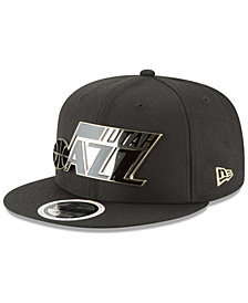 New Era Utah Jazz Black Enamel 9FIFTY Snapback Cap