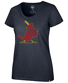 '47 Brand Women's St. Louis Cardinals Club Scoop Logo T-Shirt