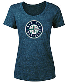 5th & Ocean Women's Seattle Mariners Tri-Blend Crew T-Shirt