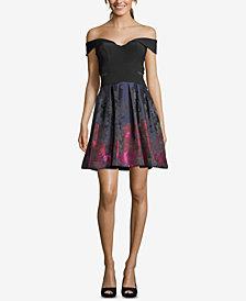Xscape Off-The-Shoulder Fit & Flare Dress