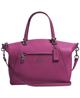9251aac0fe606 Macy s Coach Prairie Satchel Handbags