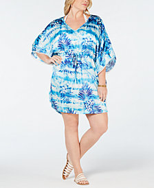 Dotti Plus Size Printed Kaftan Cover-Up