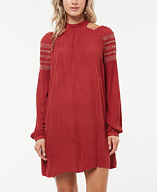 O'Neill Mirage Embroidered Cutout-Sleeve Dress