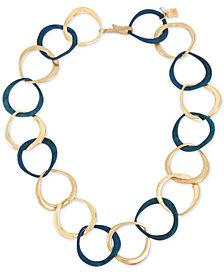 "Robert Lee Morris Soho Gold-Tone & Patina Link 18"" Collar Necklace"
