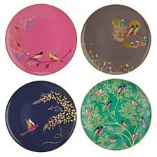 """Portmeirion Sara Miller 8"""" Set of 4 Assorted Plates"""