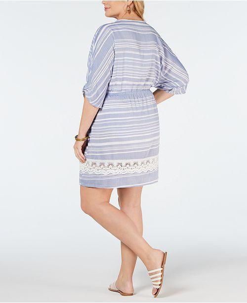 defcac79fc6 Dotti Plus Size Crochet Tassel-Tie Cover-Up - Swimwear - Plus Sizes ...