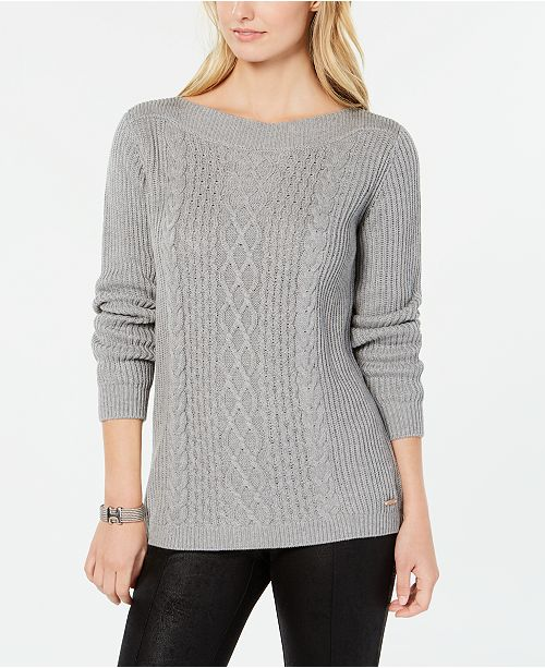 a0a78065 Tommy Hilfiger Cable-Knit Sweater, Created for Macy's & Reviews ...