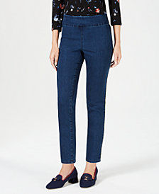 Charter Club Cambridge Skinny Pull-On Pants, Created for Macy's