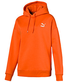 Puma Retro Metallic-Logo Fleece Hoodie