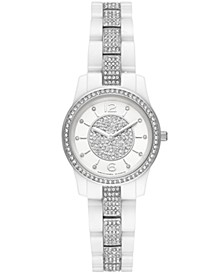Women's Mini Runway White Ceramic Bracelet Watch 28mm