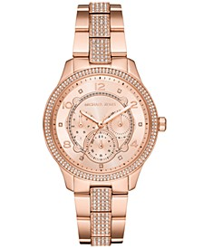 Women's Runway Rose Gold-Tone Stainless Steel Bracelet Watch 38mm