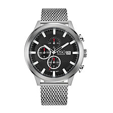 Men's ESQ0224 Stainless Steel Chronograph Watch, Mesh Bracelet, Date Window