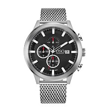 Men's ESQ0224 Stainless Steel Chronograph Watch, Mesh Bracelet, Date Window