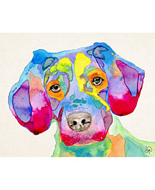 "Colorful Becky Puppy Dog 24"" X 36"" Acrylic Wall Art Print"