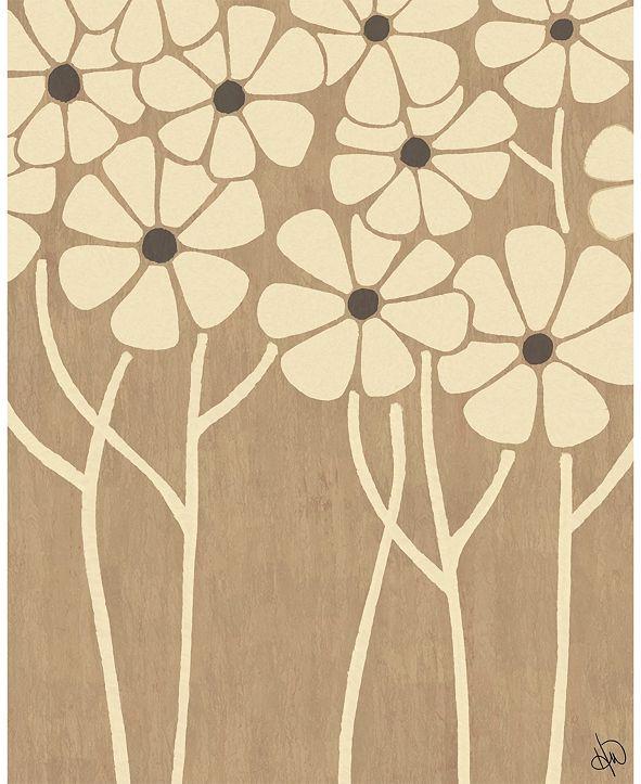 "Creative Gallery Neutral Thin Flower Cluster 24"" X 36"" Acrylic Wall Art Print"