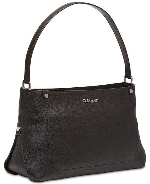 f8bcfacba1cb Calvin Klein Jackson Pebble Leather Crossbody - Handbags ...