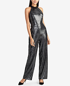 RACHEL Rachel Roy Sequined Jumpsuit, Created for Macy's