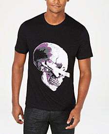 I.N.C. Men's Rhinestone Skull Graphic T-Shirt, Created for Macy's