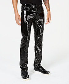 I.N.C. Men's Slim-Fit Faux-Leather Pants, Created for Macy's