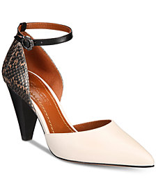 COACH Wynne Ankle-Strap Pumps