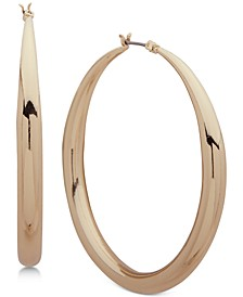 Tapered Medium Hoop Earrings