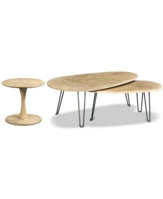Piper Table Collection, 2-Pc. Set (Bunching Table & Round Side Table)